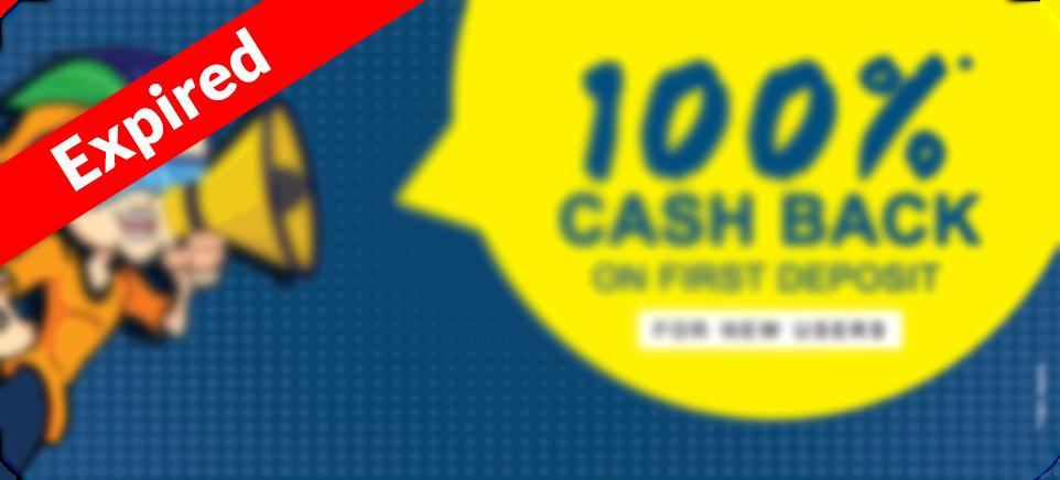 Get 100% Cashback On First Deposit | Promotional Offer: PlayerzPot