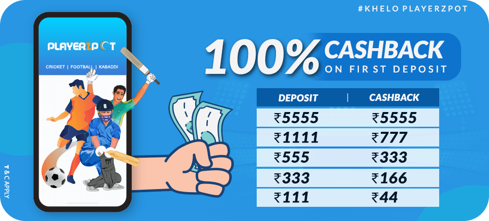 100% Cashback On First Deposit | PlayerzPot