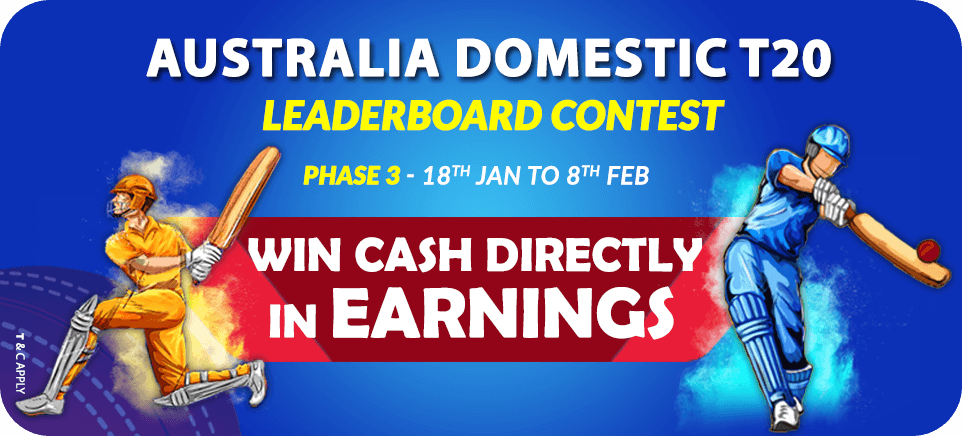 Australia Domestic T20-Leaderboard Contest | PlayerzPot