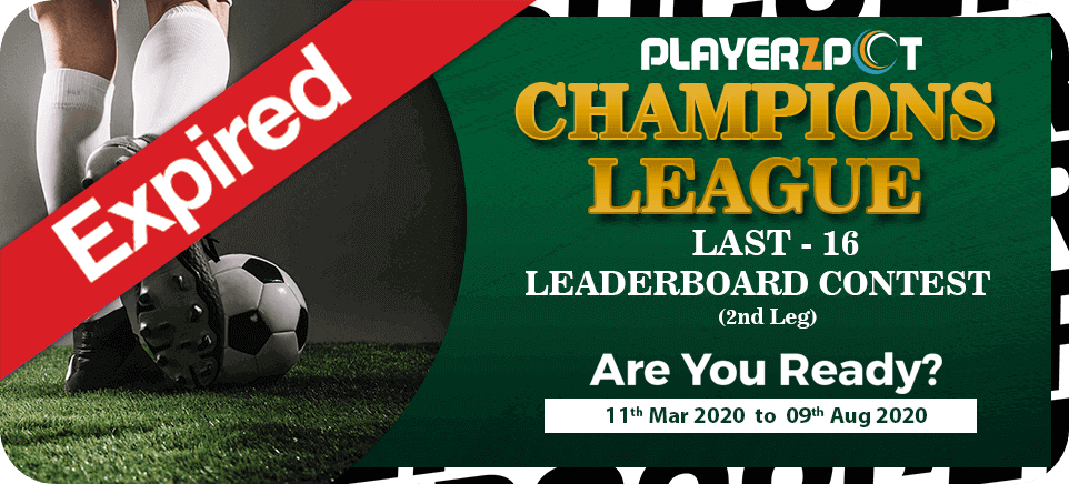 Champion's League Last 16-Leaderboard Contest