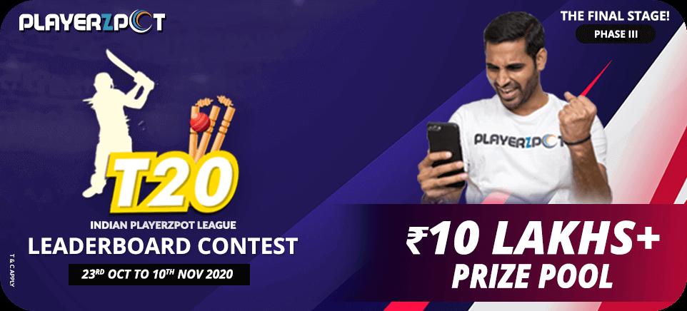 Indian Playerzpot League - Leaderboard Contest   PlayerzPot